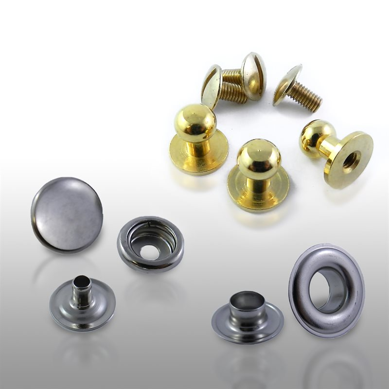 Snaps fasteners, grommets, washer & rivets