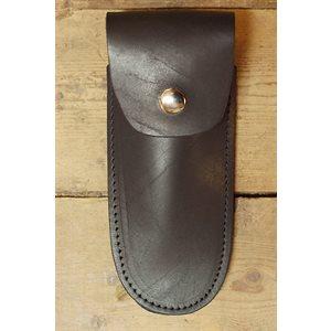 """Étui pour couteau 6"""" , cuir noir, minimum 6"""