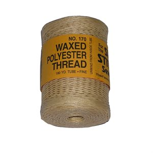 Waxed polyester thread for Speedy natural color (coarse) (180 yards)