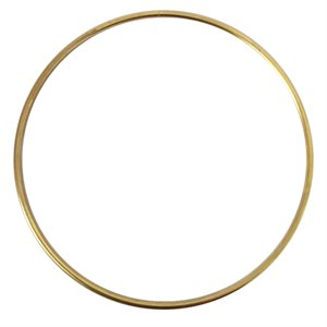 """Anneaux métal 4"""" plaqué or"""