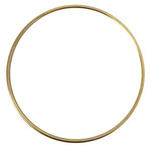 """Anneaux métal 16"""" plaqué or"""