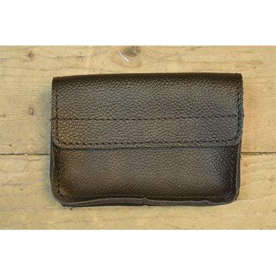 Bourse à la ceinture, cuir noir ou brun
