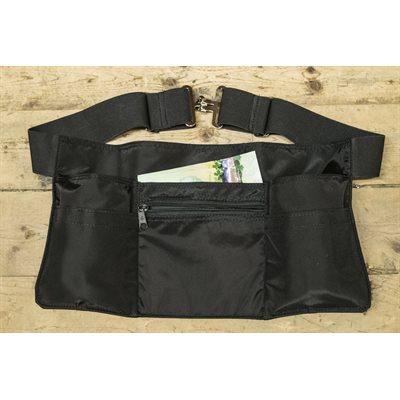 Tablier 6 poches, restaurant, nylon noir