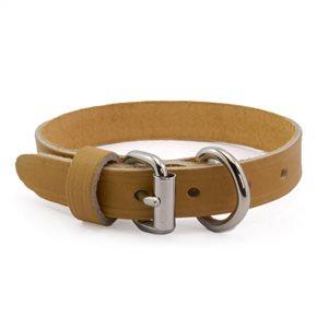 """Collier 3 / 4"""" pour chien, cuir pleine fleur simple épaisseur, grandeur de 16"""" à 20"""", à l'unité"""
