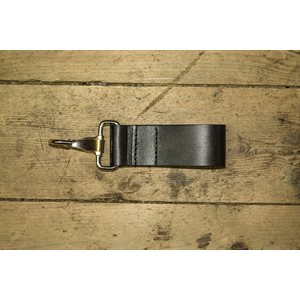 Porte-clefs à molette en cuir, pour ceinture