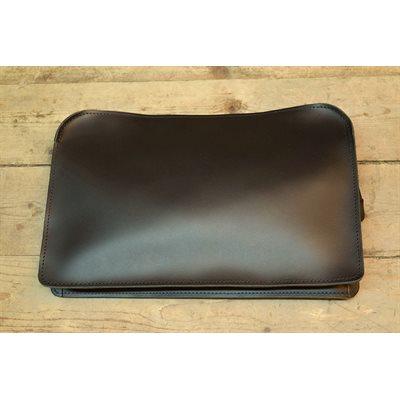 Grand sac de dépôt, cuir noir