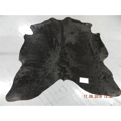Tapis peau de vache noir complet