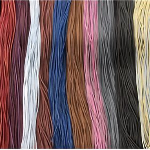 "Leather lace 1 / 8"" (3mm) - by unit"