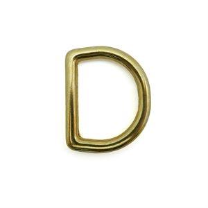 """1-1 / 2"""" cast D-rings brass (ea.)"""