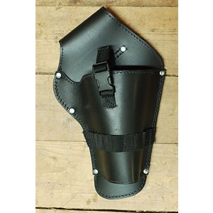 Universal drill holster, black leather