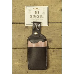 Shipping holster, black and pink leather (collection 'girls at work')