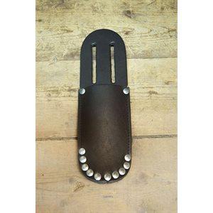 Étui à couteau, rivets de sûreté , cuir pleine fleur