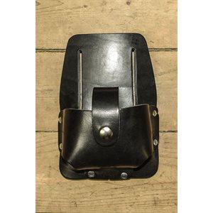 Porte ruban à mesurer 25' fait en cuir avec pochette et languette de sécurité, minimum 6