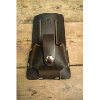 Porte ruban à mesurer 16' fait en cuir avec pochette et languette de sécurité, minimum 6