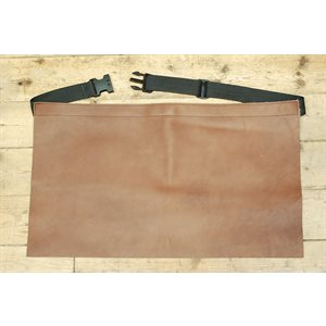 Protective apron in leather