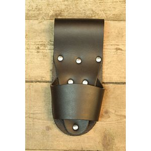 Sturdy black leather hammer holder