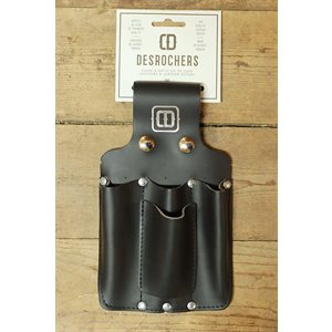 Utility holster, large size, black leather