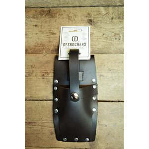 Wedge holster (small), black leather