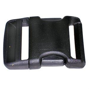 Boucle 2'' en nylon courbée noir (Min. 12)